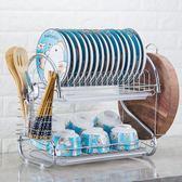 廚房置物架用品用具餐具洗放盤子置放碗碟收納架刀架碗柜瀝水碗架   夢曼森居家