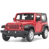 彩珀1:32JEEP吉普牧馬人越野車模 聲光合金汽車模型 兒童禮品玩具