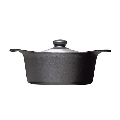 日本柳宗理 南部鐵器雙耳深鍋(附不銹鋼蓋)