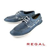 【REGAL】輕質時尚休閒鞋 藍色(55KR-NA)
