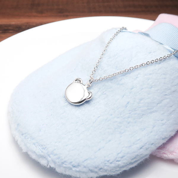活力小熊 親子項鍊 (14+2吋) 925純銀客製化訂製項鍊