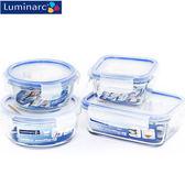 【多禮量販店】《Luminarc樂美雅》玻璃保鮮盒4入組 (2圓+2方) (PURE BOX系列)