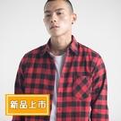 【XDM】新款男士磨毛格子休閒長袖襯衫(2色/39-43)
