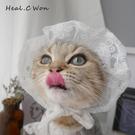 寵物貓咪帽子貓咪頭套可愛狗狗蕾絲