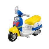 〔小禮堂〕迪士尼 唐老鴨 造型摩托車《藍.偉士牌》DM-19經典造型值得收藏4904810-48387