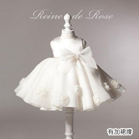 畢業禮服 精緻紗質蝴蝶結小禮服 連身洋裝 橘魔法 現貨 童裝 兒童 婚禮花童 紗裙 女童 全家福攝影
