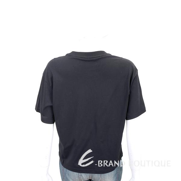 KENZO 扶桑花字母黑色棉質短袖T恤 1840646-01