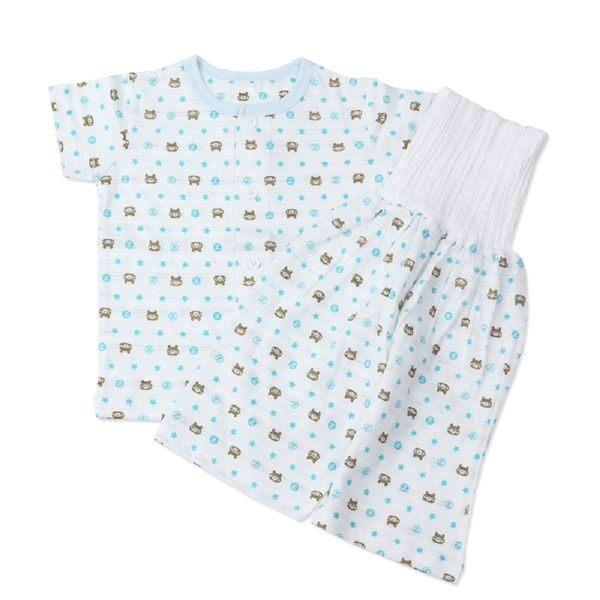 純棉上衣+護肚長褲兩件組-竹節棉睡衣夏季超薄短袖-JoyBaby