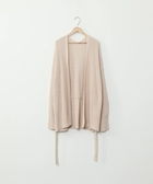 開襟外套 針織 畦編 附腰帶 日本品牌【coen】