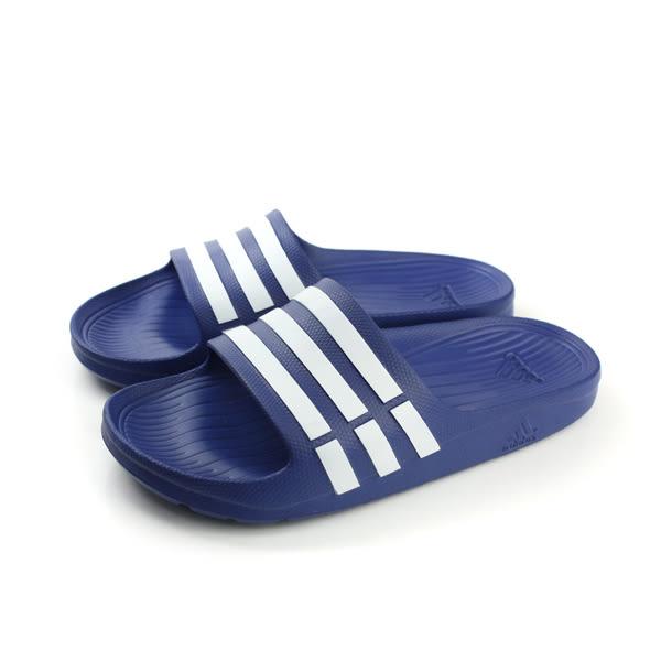 adidas Duramo Slide 拖鞋 戶外 防水 好穿 藍色 男女鞋 G14309 no393