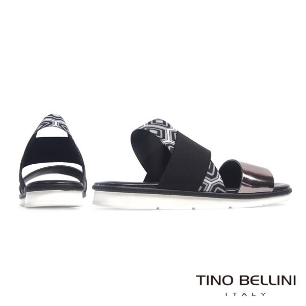 Tino Bellini 義大利進口抽像美學平底涼鞋(金屬色)_B63026  2016SS歐洲進口款