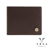 【VOVA】  費城系列4卡零錢袋皮夾(煙草棕)VA118W007BR
