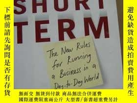 二手書博民逛書店MANAGING罕見FOR THE SHORT TERM 短期管