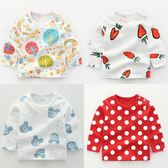 女寶寶純棉長袖T 恤 打底衫上衣女童0 歲1 秋裝2 嬰兒衛生衣 童趣潮品