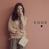 東京著衣【KODZ】氣質加分優雅圍裹綁帶兔毛針織上衣-S.M.L(172501)