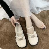 洛麗塔鞋子2020新款女鞋春季百搭可愛圓頭蝴蝶結仙女鞋jk小皮鞋女