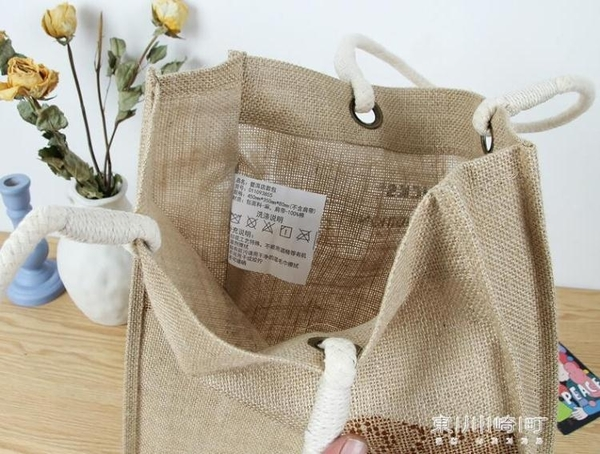 購物袋-亞麻大號單肩包購物袋 粗麻料購物包 加厚麻布手提袋 現貨快出