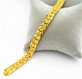 手鏈 金手鏈男士仿真黃金色沙金首飾正24K金久