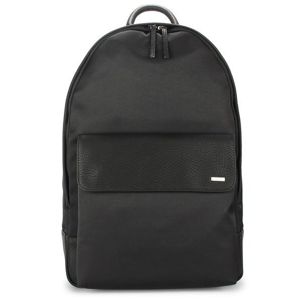 Calvin Klein素面拼接尼龍後背包(黑色)103350