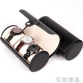 PU皮革3位圓筒手錶盒高檔珠寶首飾手錶收納展示包裝盒子 可然精品