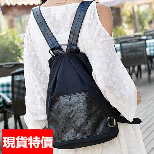 後背包 -現貨販售-口袋造型尼龍防水後背包  寶來小舖
