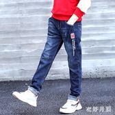 男童牛仔褲2019新款寬鬆洋氣夏季寬鬆韓版休閒褲 QW5066【衣好月圓】