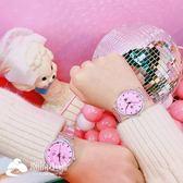手錶 簡約粉嫩透明手表日系學生軟妹清新腕表休閑少女手表 潮流小鋪