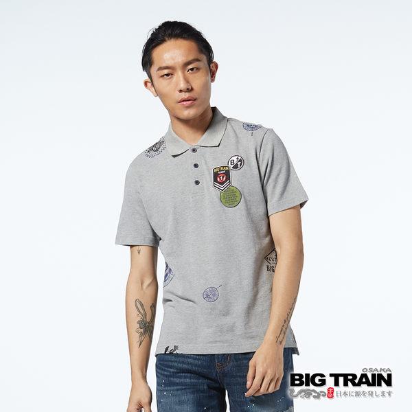 BIG TRAIN  軍事郵戳貼標POLO衫-男-B80673