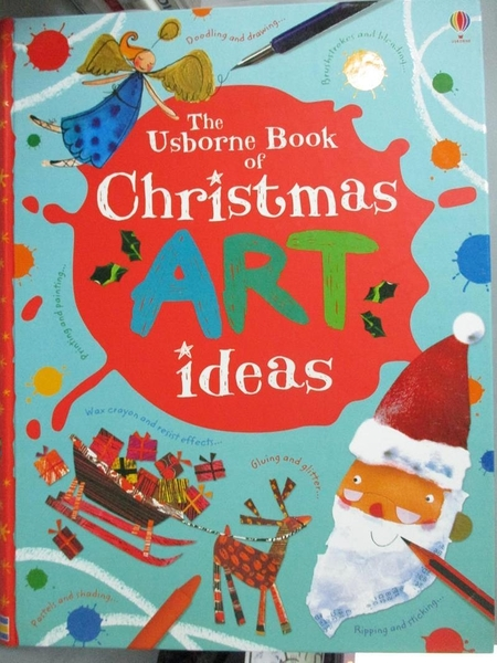 【書寶二手書T1/兒童文學_YHA】Christmas Art Ideas (Usborne Art Ideas)_Fiona Watt