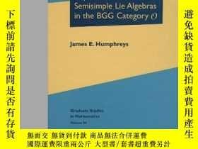 二手書博民逛書店Representations罕見Of Semisimple Lie Algebras In The Bgg Ca
