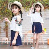 女童兩件式洋裝 夏季新款8中大童兩件套雪紡套裙9韓版12歲女孩洋裝 aj3075『美好時光』