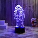 戀人七彩3d小夜燈usb插電臥室床頭氛圍燈創意禮品女友生日禮物燈 「ATF夢幻小鎮」