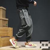 束腳褲男工裝褲寬鬆百搭休閒收口小腳運動褲【左岸男裝】