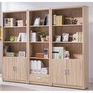 【森可家居】安迪橡木紋7.2尺開放書櫃組 8SB231-3 收納書櫥 木紋質感 無印北歐風 MIT台灣製造