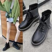 秒殺價網紅馬丁靴潮秋冬季新款百搭英倫風短靴機車平底女鞋新品