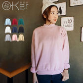粉絲最愛休閒百搭立領純色素面內刷毛保暖上衣 大學T 中大尺碼 O-Ker UA4066-C