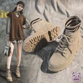 短靴 馬丁靴女年秋冬季新款秋鞋英倫風百搭潮鞋瘦瘦網紅短靴子秋款