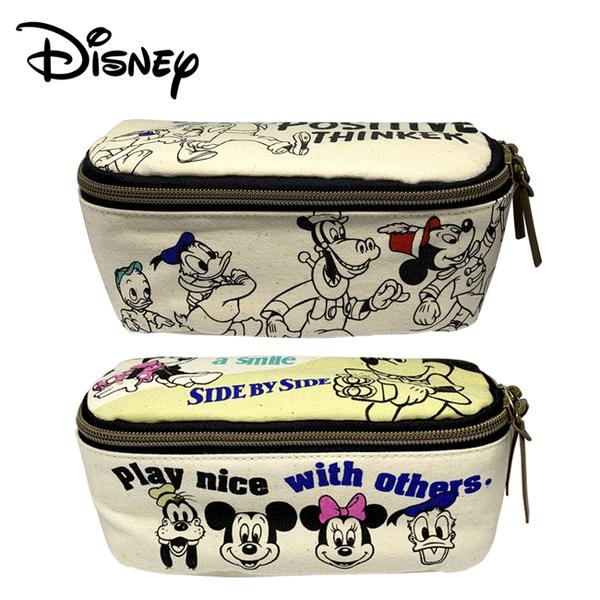 【日本正版】迪士尼 全開式 化妝包 收納包 盥洗包 米奇 米妮 唐老鴨 高飛狗 迪士尼 042580 042597