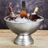不銹鋼香檳盆紅酒冰桶 40厘米大號冰粒桶 家用酒吧ktv專用       瑪奇哈朵