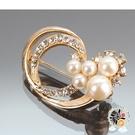圓滿珍珠造型別針【十方佛教文物】