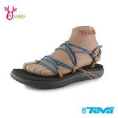 TEVA涼鞋 VOYA INFINITY 女款涼鞋 織帶涼鞋 羅馬鞋 防水涼鞋 軟底涼鞋 J6458 藍色◆OSOME奧森鞋業