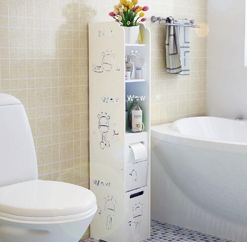 廁所收納櫃浴室置物架落地衛生間收納櫃洗手間儲物櫃衛浴廁所馬桶邊櫃wy 1件免運
