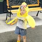 雨衣幼兒園兒童小黃鴨斗篷式雨傘卡通雨帽子