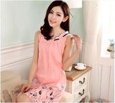 女式睡衣夏季純棉連衣韓版短袖甜美可愛背心 JA1505『伊人雅舍』