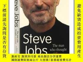 二手書博民逛書店喬布斯傳記罕見英文原版Steve Jobs The Man Wh