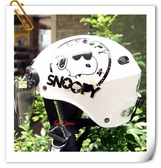 林森~雪帽,史奴比安全帽,K825,#2/白,附抗UV-PC安全鏡片