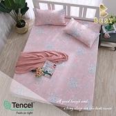 【BEST寢飾】天絲床包三件組 加大6x6.2尺 三生三世 100%頂級天絲 萊賽爾 附正天絲吊牌 床單