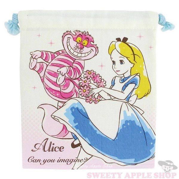 日本限定 迪士尼 愛麗絲 束口袋 收納袋