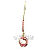 〔小禮堂〕Hello Kitty 圓形金屬鈴鐺吊飾《紅》掛飾.鑰匙圈 4991567-26389