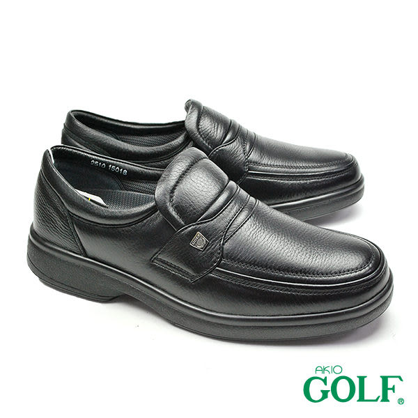 【GOLF】手工氣墊經典休閒鞋 黑色(GF2510-BL)
